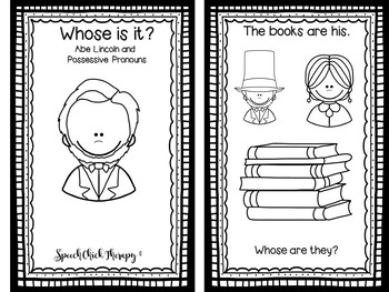 Presidents, Money and Pronouns Make and Take Booklets for Speech Therapy