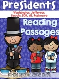 Presidents Reading Comprehension Passages and Questions