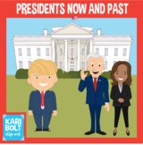 Presidents Now and Past (Trump and Obama) Clip Art