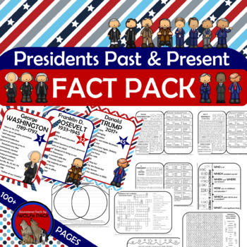 PRESIDENTS Historical Facts Reading Passages Text Writing Flash Flip Book