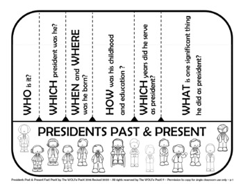 PRESIDENTS Past and Present FACT PACK Informational Text Writing Prompts More