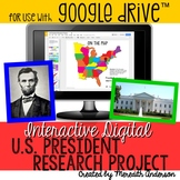 Presidents Research Digital Classroom Edition - Great for Presidents' Day
