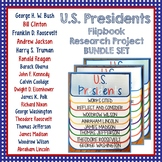 Presidents, Research Flip Book Projects, Bundle Set, President's Day