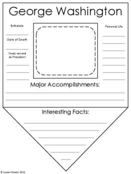 Presidents Research Pennant Printables