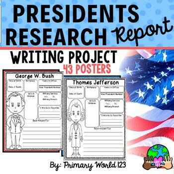 Presidents Research Report Writing Project Common Core
