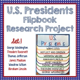 Presidents, Research Project, Set 1, Flip Book, Writing Prompts, President's Day