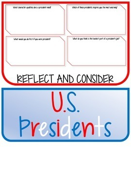Presidents, Research Project, Set 3, Flip Book, Writing Prompts, President's Day