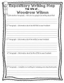 President's Research Writing --- Expository Writing Map