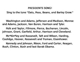 Presidents Song