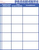 Presidents-Student Worksheet/Activity/Homework