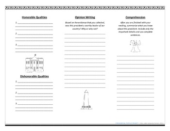 Presidents Worksheet
