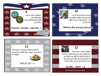 Presidents',Veterans'/Memorial,Martin Luther King Jr : Math Task Card Bundle 4-6