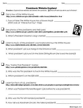 Presidents Website Explore