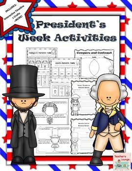 President's Week Activities, Crafts, Interactive Timeline