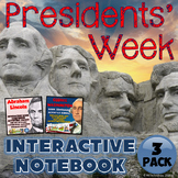 Presidents' Week Interactive Notebook Activities Three Pack