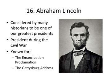 Presidents Worksheets