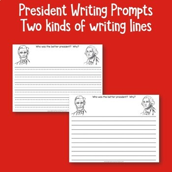 Presidents Writing Prompts