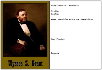 Presidents and First Ladies of the United States - Trading Cards to be Made