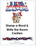 Presidents and National Symbols Stamp a Word and Write the Room