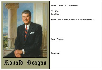 Presidents and Vice Presidents Trading Cards to Complete