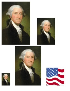 Presidents day American Symbols measuring linking cubes MATH