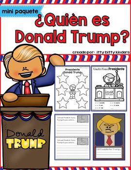 Presidents in SPANISH:  George Washington, Abraham Lincoln, Donald Trump