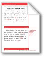 Presidents in the Mountain (Gr. 2/Week 36)