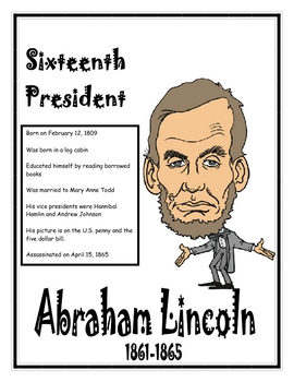 Presidents of the U.S. - Information and Coloring Book for Grades 1-4