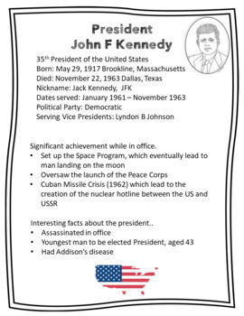 Presidents of the USA Activity and Poster Bundle #POTUS #Presidents Day