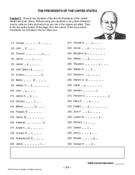 Presidents of the United States, AMERICAN HISTORY LESSON 35 of 100 Contests+Quiz