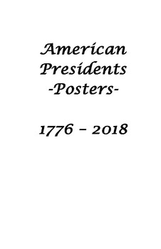 US Presidents Posters