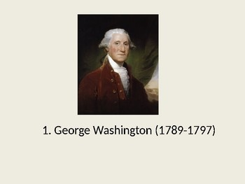 Presidents of the United States Power Point - List of Presidents
