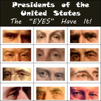 "Presidents of the United States - The ""EYES"" Have It! - Fun Partner Activity!"