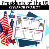 Presidents of the United States Timeline Research Project