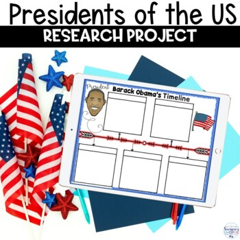 Presidents of the United States Timeline Research Project for Presidents' Day
