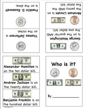 Presidents on Money Mini Book