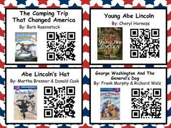 President's/Groundhog's Day Listening Center (20 books with QR codes)