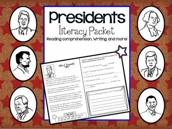 Presidents/Reading Comprehension/Literacy Mini Pack