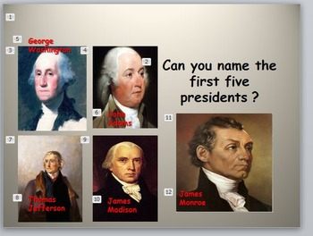 Presidents:The Fab Five- The First Five Presidents
