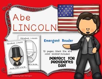 Presidents' Day {Lincoln} Emergent Reader for Kindergarten