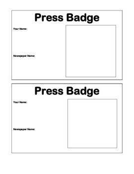 Press Badge for Student Journalists