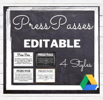 Press Media Pass Editable