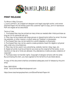 Press Release for Printing Painted Paper Art Items