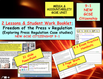 Press freedom and Free speech GCSE CITIZENSHIP 9-1