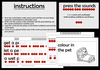 Press the Sound Button CVC Words Read and Write