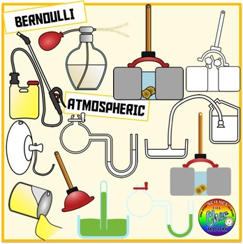 Pressure Clipart (Pascal, Bernoulli, Archimedes)
