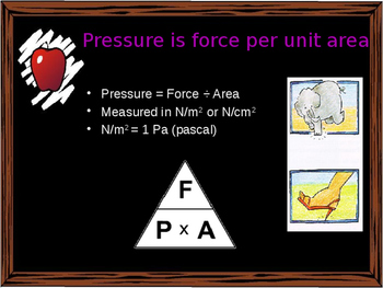Forces and Motion - Pressure in solids, liquids and gases, hydraulics