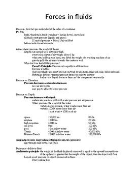 Pressure Study Notes