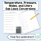 Pressure and Temperature Conversion Worksheet with Answer Key