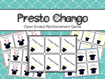 Open Ended Reinforcement Game Presto Chang-O